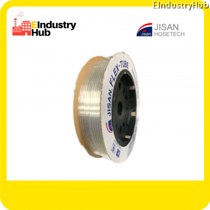 KOREA JISAN Polyurethane Pneumatic Hose PU Pneumatic Air Tube Polyurethane PU Tube Polyurethane PU Air Hose Tube Pneumatic Air Hose 6mm x 4mm x 100m (Roll)